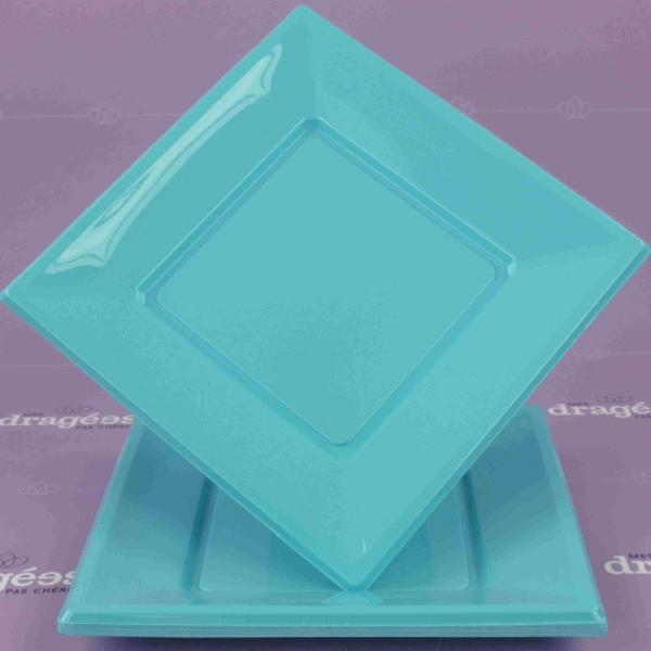grande assiette plastique turquoise. Black Bedroom Furniture Sets. Home Design Ideas