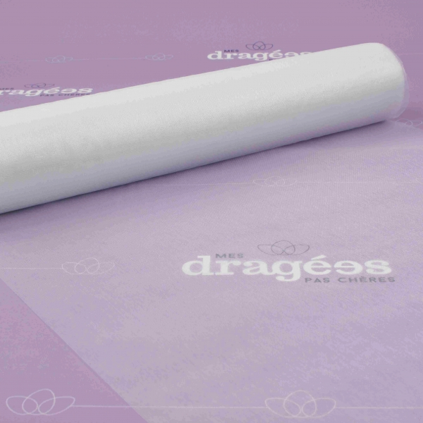 Chemin de table blanc en organza - Chemin de table organza pas cher ...