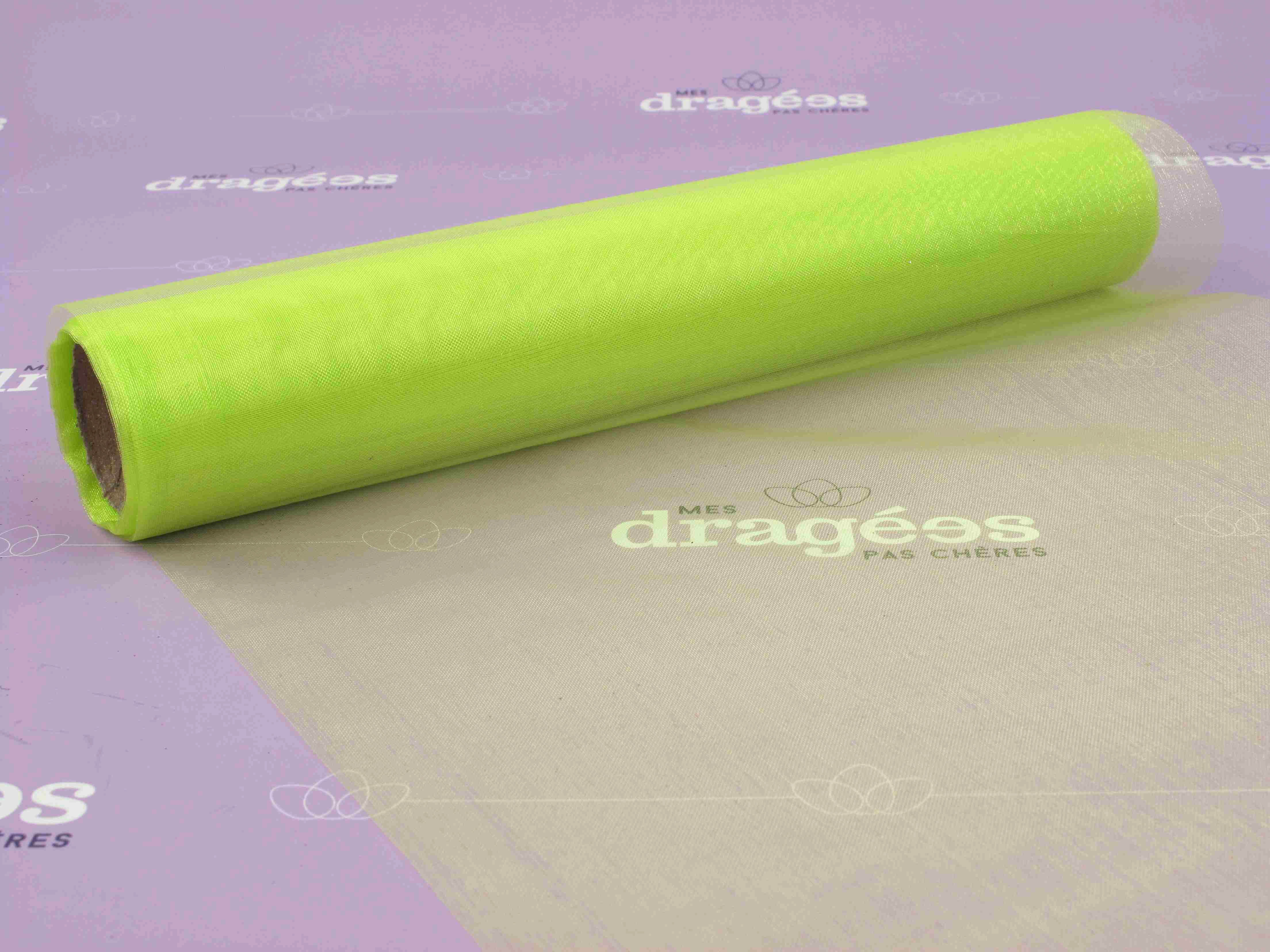 Chemin de table organza vert anis - Chemin de table organza pas cher ...