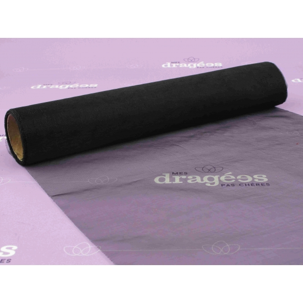 Chemin de table organza noir - Chemin de table jetable pas cher ...